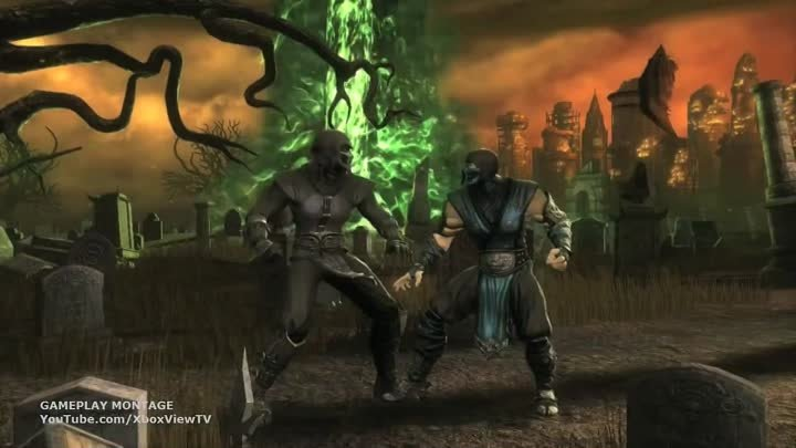 Mortal Kombat 9 - Noob Saibot Combo Gameplay Montage Trailer (2011) MK9 | HD