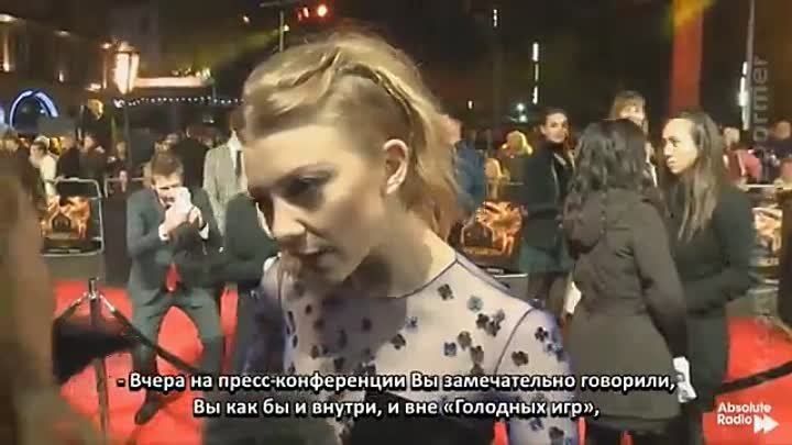 Natalie Dormer talks about Hunger Games haircuts, Jennifer Lawrence & Game of Thrones [rus sub]
