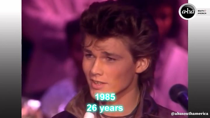 Morten Harket Change over time from 1984 to 2019