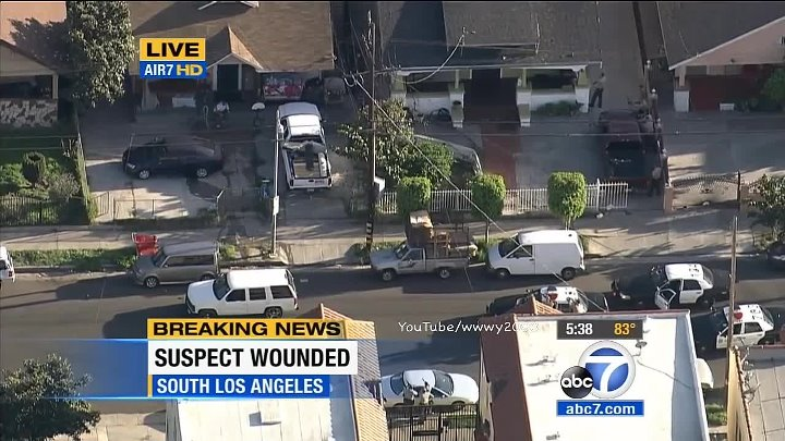 Car Chase Ends In A Shootout on LIVE TV! [UNCENSORED] Los Angeles Police  Chase (March 13, 2015)