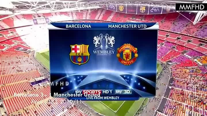 Manchester United vs Barcelona - Last 6 Matchs in UEFA Champions League _ MMFHD