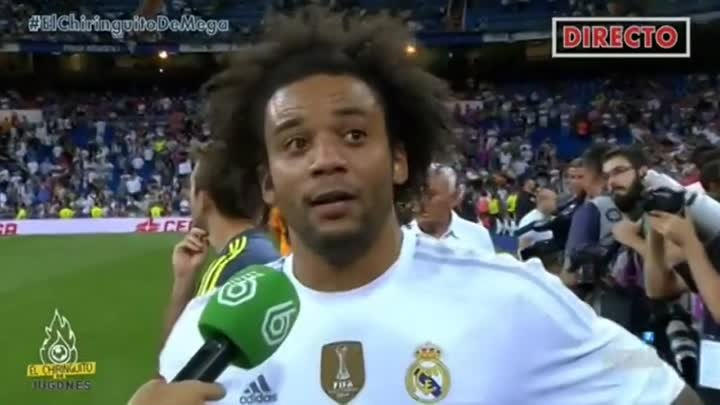 Cristiano Ronaldo Funny Face Moment During Marcelo Interview ● Real Madrid vs Galatasaray 2-1 HD