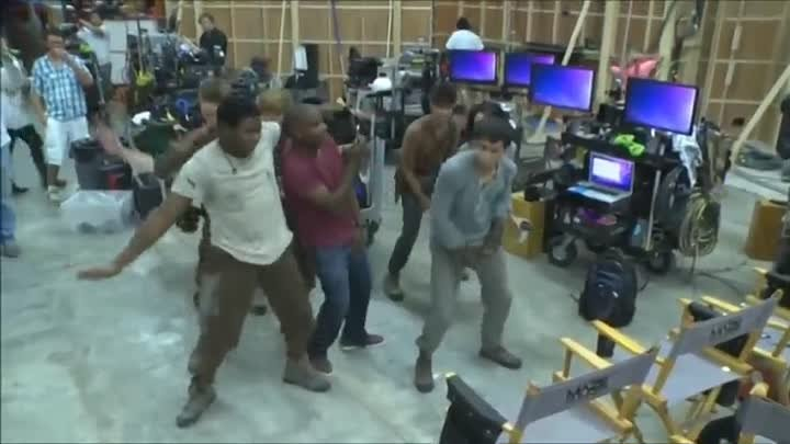 The Maze Runner cast dance Talk dirty