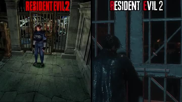 Resident Evil 2 Remake vs Original Direct Comparison