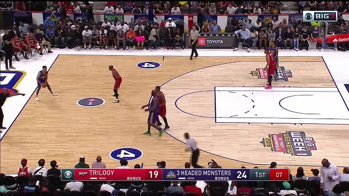 BIG3 2019 3 Headed Monsters vs Trilogy - Watch NBA Replays, Playoffs