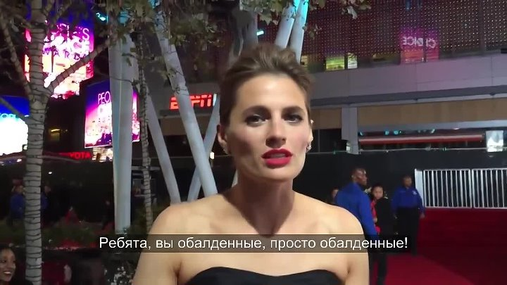 Stana Katic at the People's Choice Awards 2015 (Rus Sub)