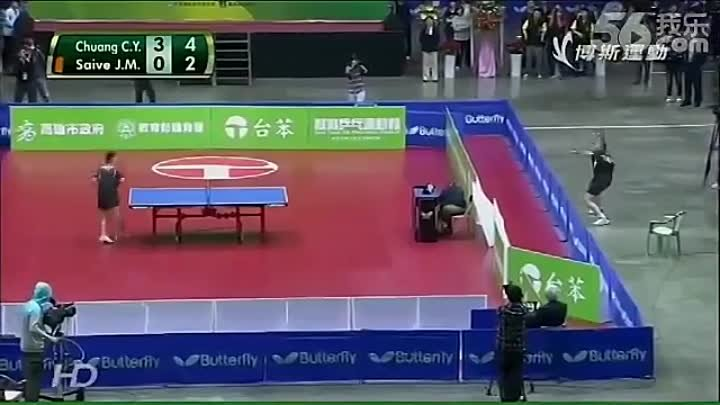 The most humorous table-tennis match ever