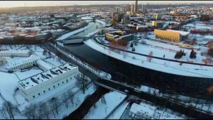 The city of Vilnius 2016 winter 4K UHD