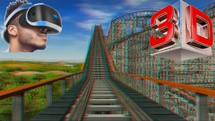 3D - RCT3 - (Dominator) 3D anaglyph Roller Coaster Red/Cyan Glasses Stereo