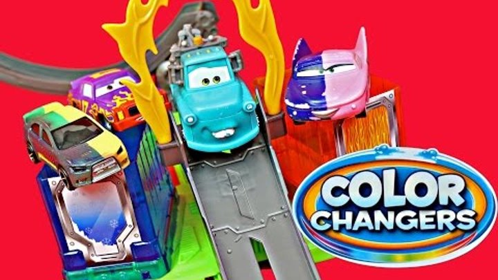 Disney CARS Lightning McQueen & MATER Color Changers Car Toys Hot Wheels Stunt N Dunk Track
