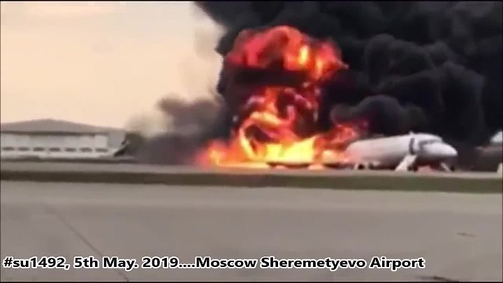 Russian Sukhoi Superjet Crash And Catches Fire At Moscow's Sheremetyevo Airport