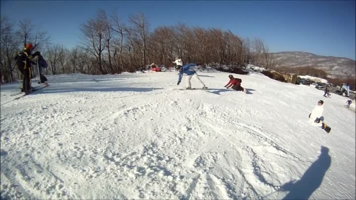 GoPro 2012 Ski & Snowboarding ,Pilio ( We are Skiing - Beautiful Greece )