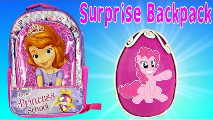 DISNEY PRINCESS SURPRISE BACKPACK - Frozen Giant Play Doh Egg Sofia The First MLP Shopkins Lego TMNT
