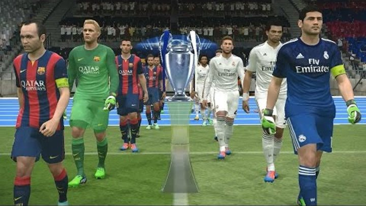 PES 2015 UEFA Champions League Final (Real Madrid vs FC Barcelona Gameplay)