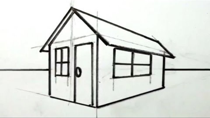 How to Draw a House in 3D for Kids - Easy Things to Draw