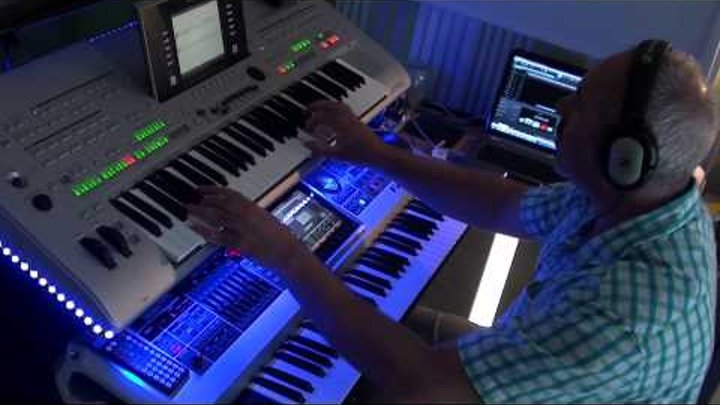 Jm Jarre Oxygene 8 Cover - remix with Tyros 3 and Fantom G6