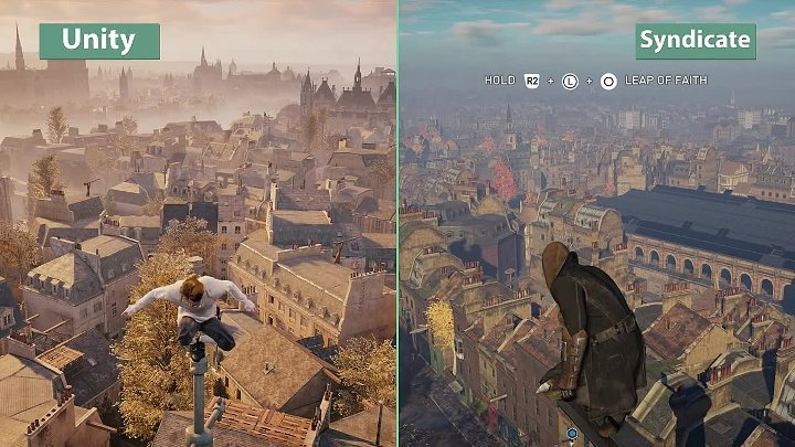 Assassin's Creed – Syndicate vs. Unity Graphics Comparison [FullHD][60fps]