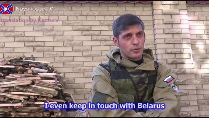 [eng subs] Interview with NAF commander Givi about his personal life 10/10/14