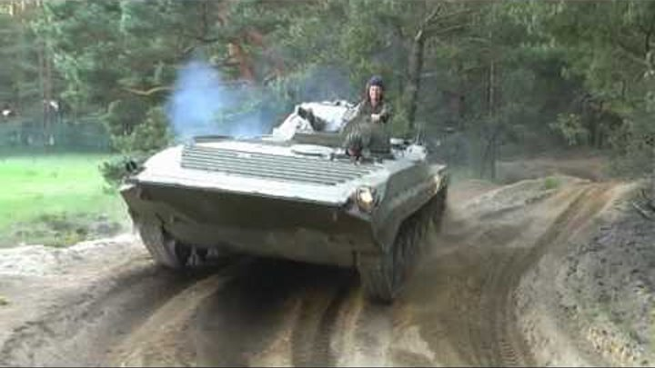 Russian armored vehicles in action