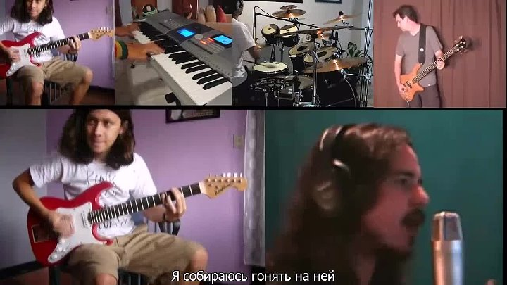 Collaboration cover Deep Purple - Highway Star (русские субтитры)