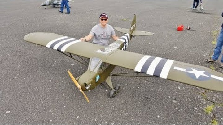1/3 SCALE GRASSHOPPER CUB WITH WHITTAKER CONVERSION - DLE 60cc FLAT TWIN - TIBENHAM - 2018