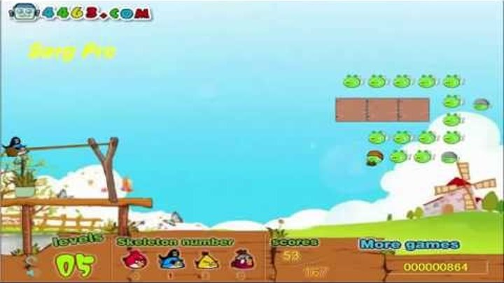 Angry Birds Злые Птицы - Angry Birds animated Game - counterattack