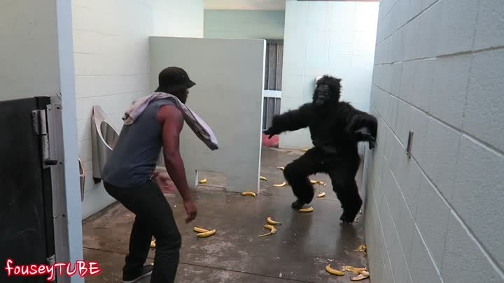 ESCAPED GORILLA BATHROOM PRANK!
