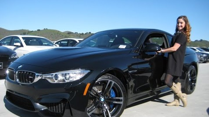 """NEW BMW M4 with 19"""" Black M Wheels - Exhaust Sound - Full Review"""