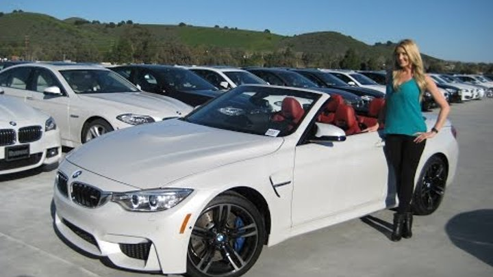 NEW BMW M4 Convertible - Exhaust Sound - Black M Wheels - Full Review