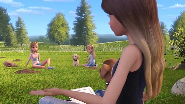 Барби и щенки в поисках сокровищ / Barbie and Her Sisters in the Great Puppy Adventure (2015) DVDRip