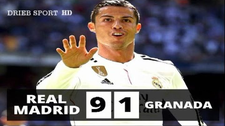 Real Madrid vs Granada 9-1 All Goals 5/4/2015 HD