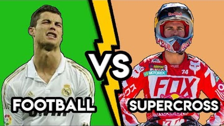 SUPERCROSS VS FOOTBALL [HD]