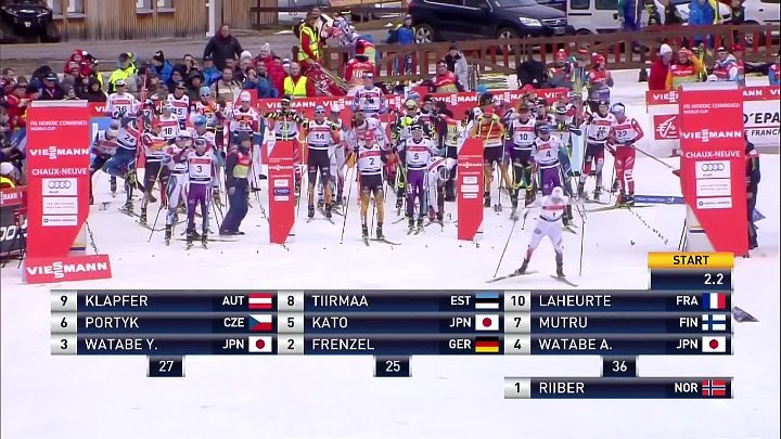 Frenzel strikes back in Chaux-Neuve FIS Nordic Combined Highlights