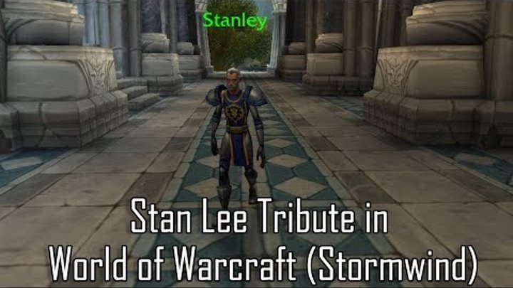 Stan Lee Tribute in World of Warcraft - Stormwind Patch 8.1.5
