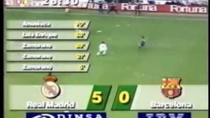 Real Madrid 5 - 0 Barcelona F.C. (07/01/1995)