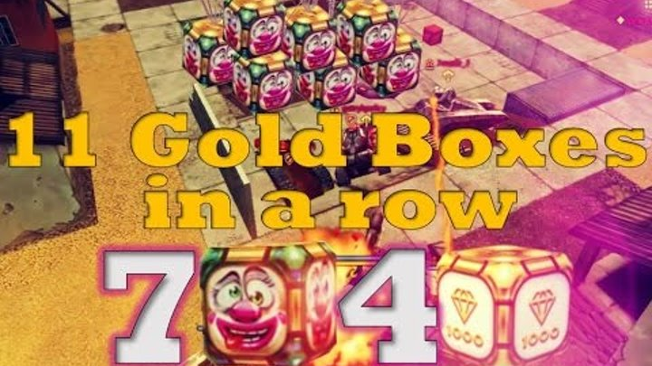 Tanki Online - 11 Gold Boxes in a row•Epic Golden Rain•2x Double Gold Box Hack - Fools Day (April)