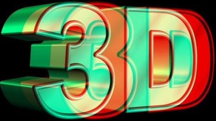 HIGH QUALITY!!! 3D VIDEO 3 (red and cyan) Blue Glasses