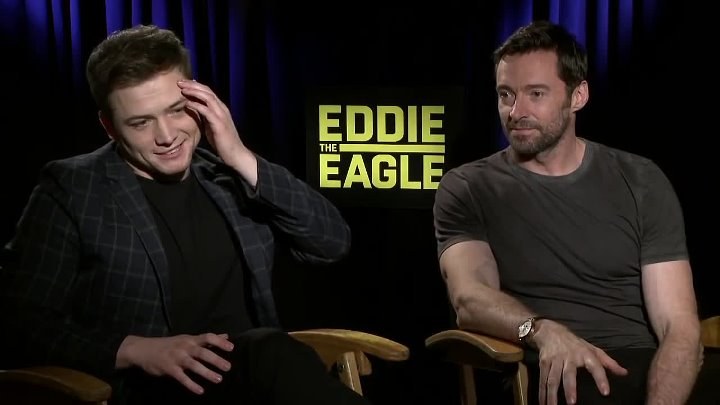 Eddie the Eagle_ Hugh Jackman & Taron Egerton Exclusive Interview (1)