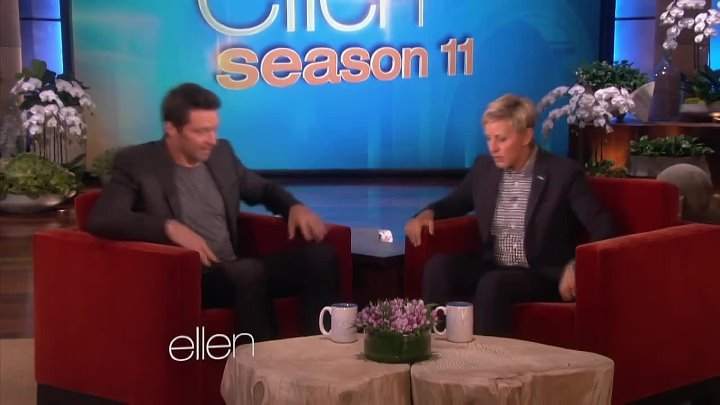 Who Can Lift More Ellen or Hugh Jackman