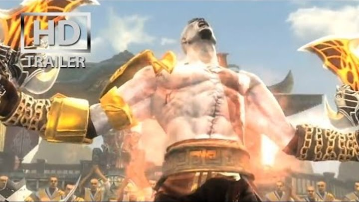 Mortal Kombat 9 - Kratos | gameplay trailer [HD] OFFICIAL Trailer MK9 (2011) PS3