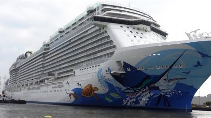 NORWEGIAN ESCAPE - HIGHLIGHTS OF FLOAT OUT IN GERMANY AUGUST 15 , 2015 AUSDOCKEN