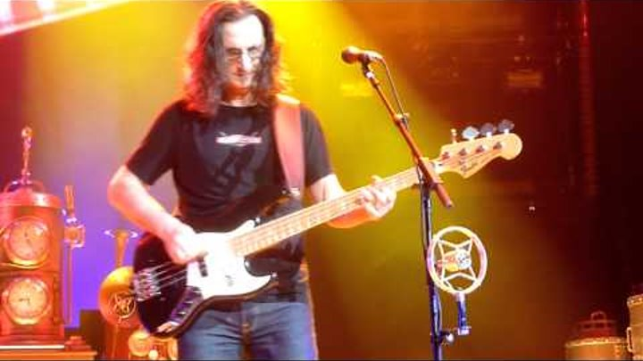 "GEDDY LEE of RUSH ""Keeps it Low"" at the end of ""Red Barchetta"" Cleveland Q-Arena April 15 2011"