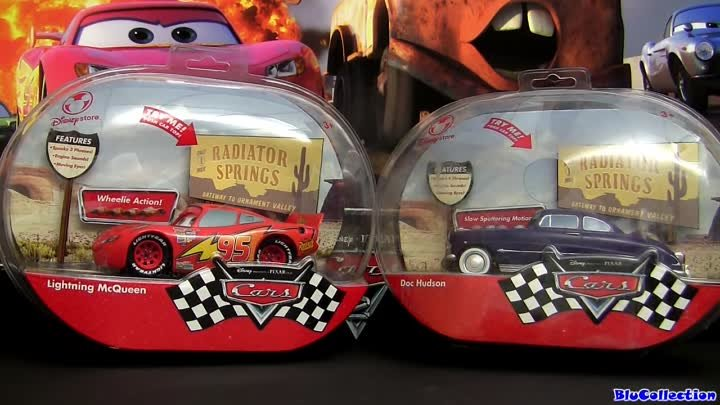 Lightning McQueen Talking with Doc Hudson 1:24 scale Cars 2 Radiator Springs Blucollection