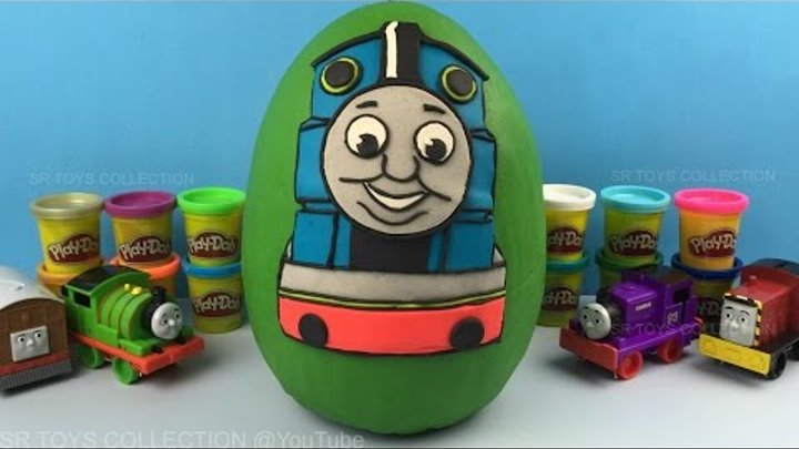 Giant Thomas and Friends Play Doh Surprise Egg, Opening Toys Shopkins Peppa Pig Frozen Surprise Eggs