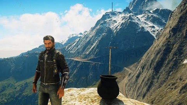 Just Cause 4 - Best Easter Egg Ever. (Getting Over It Mini-game)