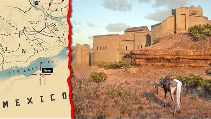 How to Get to MEXICO in Red Dead Redemption 2 (RDR2 SECRET Map)