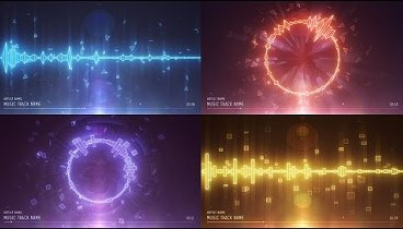 Audio spectrum music visualizer after effects template pronofoot35fo Gallery